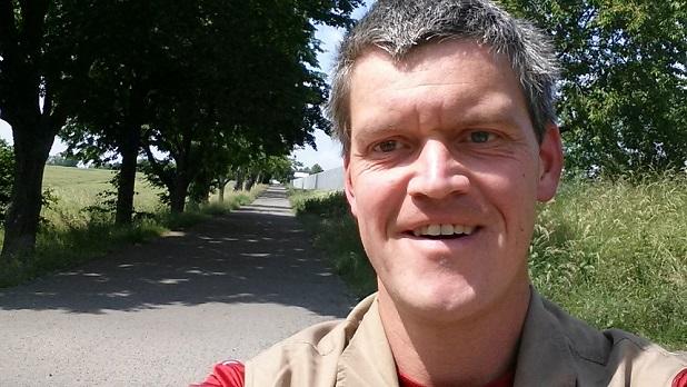 Michael S. wandern in der Weinteichsenke Wachau-Markkleeberg